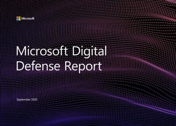 Schriftzug: Microsoft Digital Defense Report