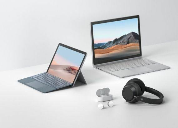 Microsoft Produkte (Laptop, Surface und Kopfhörer)