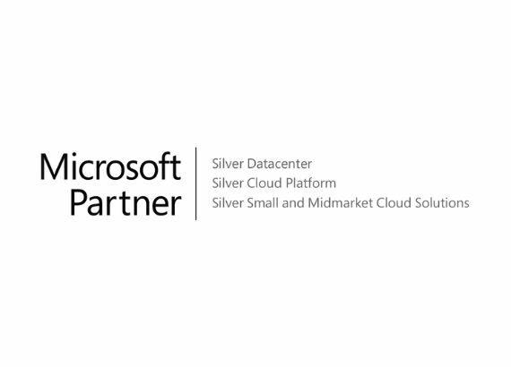 Microsoft Partner Logo (Silver Datacenter, Silver Cloud Platform, Silver Small and Midmarket Cloud Solutions)