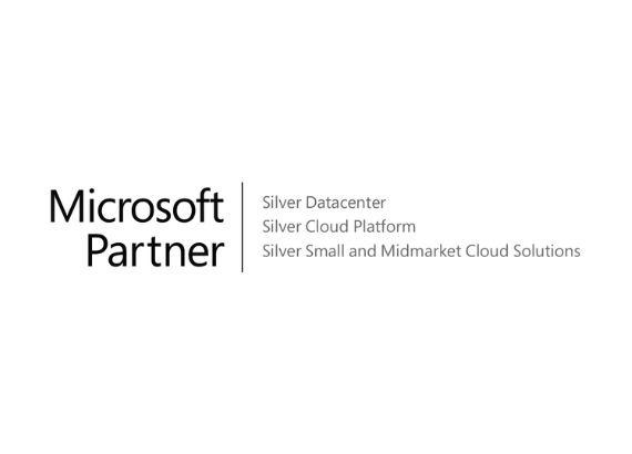 Microsoft Partner Logo (Silver Datacenter, Silver Cloud Platform, Silver Small and Midmarket Cloud Solutions)